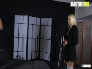 AmateurEuro - Sweet Amateur Blonde Convinced To Audition For Porn